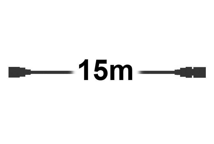 Sirius Lichterketten Verlängerung tech-line 15m 230V schwarz