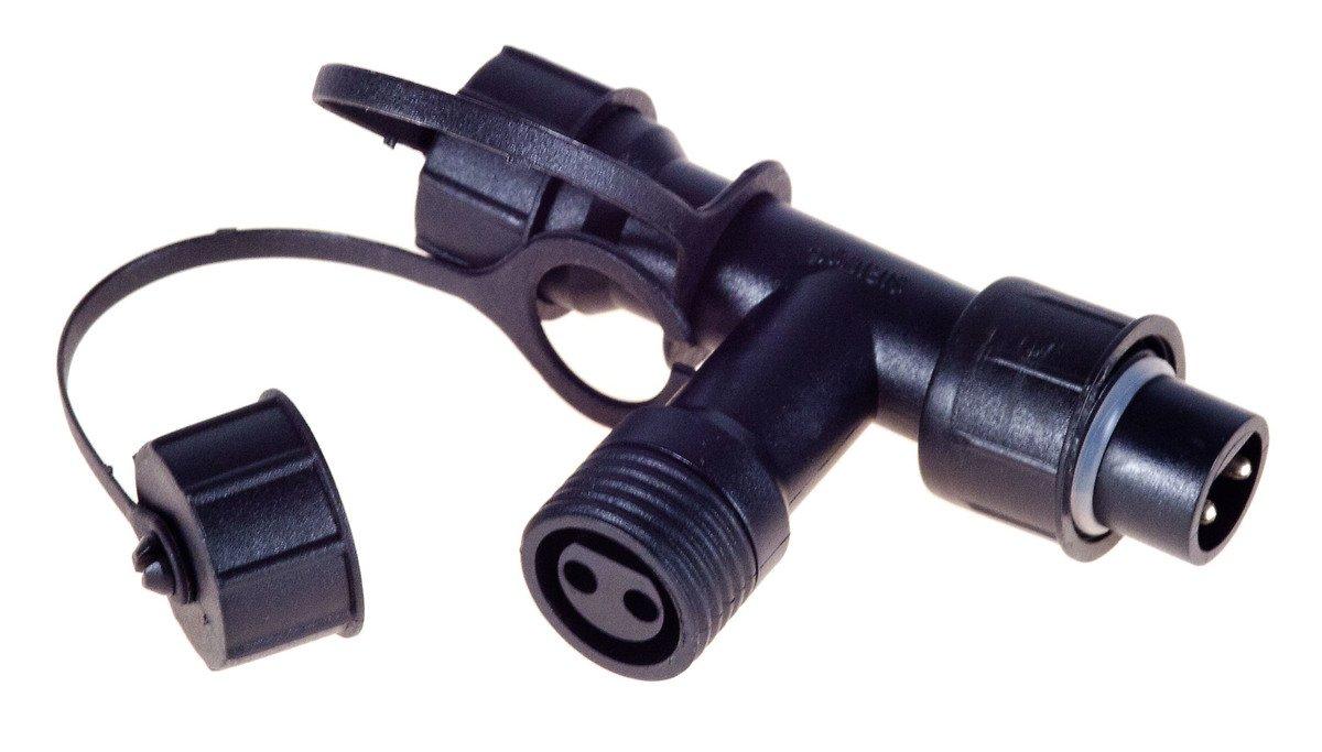 Sirius Lichterketten Verteiler T-Stück tech-line 7x5cm 230V schwarz - Pic 1