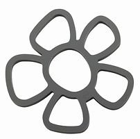 Zone Topfuntersetzer Confetti Blume Silikon grau