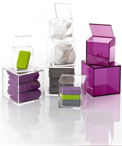 zone aufbewahrungsbox confetti transparent klar klein kaufen. Black Bedroom Furniture Sets. Home Design Ideas