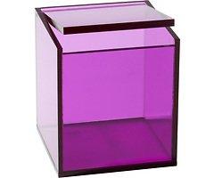 Zone Aufbewahrungsbox Confetti transparent/lila klein