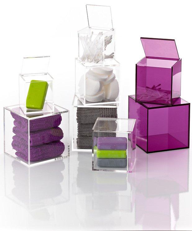 Aufbewahrungsbox Badezimmer | Zone Aufbewahrungsbox Confetti 13 X 13 Cm Lila Kaufen Homeliving De