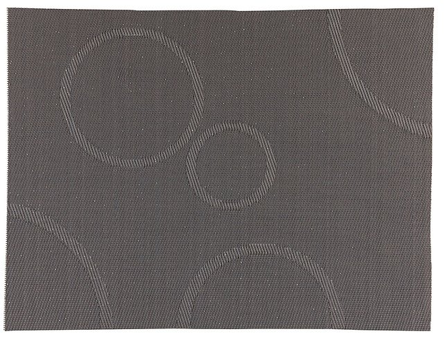 Zone Tischset Confetti mit Kreisen grau 30 x 40cm