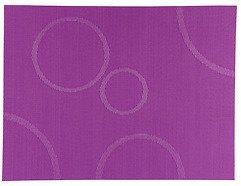 Zone Tischset Confetti mit Kreisen lila 30 x 40cm