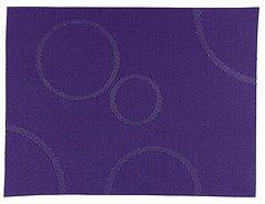 Zone Tischset Confetti mit Kreisen dunkellila 30 x 40cm