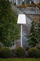 8Seasons Design Gartenlampe Shining No.1 on Stick S 130 cm Kunststoff weiß