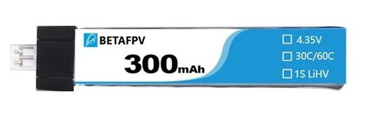 BETAFPV Batterie Lipo Akku 300mAh 30C 3.8V JST-PH 2.0