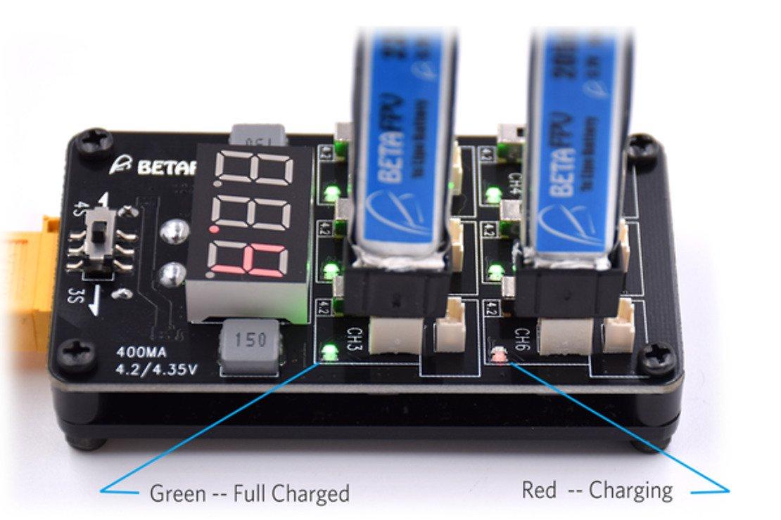 BETAFPV Ladeboard für 6 Lipos mit XT60 und HV - Pic 4