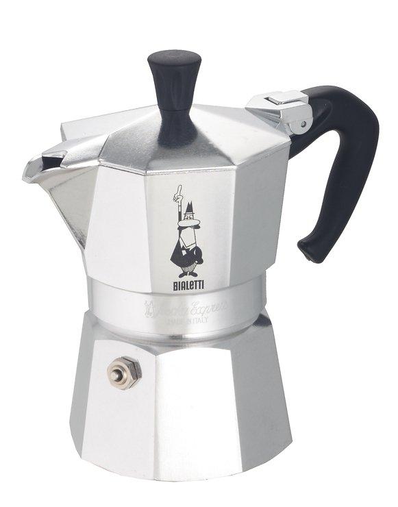 Bialetti Espressokocher Moka Express 3 Tassen Aluminium - Pic 1