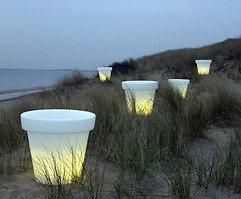 Bloom Pot Light Blumentopf beleuchtet 40cm weiß