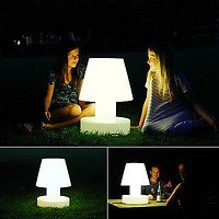 Bloom Gartenlampe Portable Lamp mit Akku 28cm weiß
