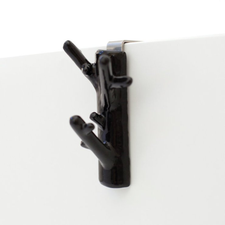 Bosign Garderobenhaken Mini Branch Hanger Schwarz Braun - Pic 2