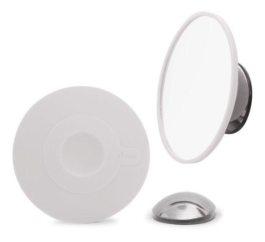 Bosign Kosmetikspiegel 15 fache Vergrößerung mit Magnethalter weiß