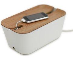 Bosign Kabelbox Hideaway M Kunststoff weiß natur