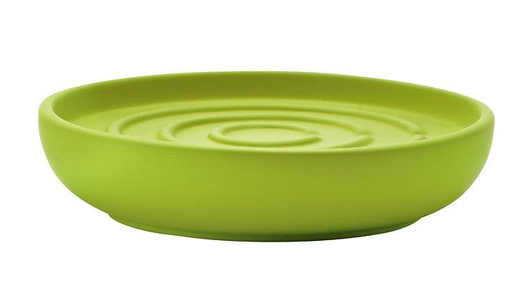 Zone Seifenschale Nova Keramik Soft Touch lime grün matt