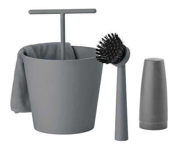 Zone Denmark Geschirrspülset 4-teilig 15 x 24 cm cool grey