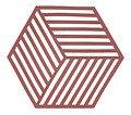 Zone Topfuntersetzer Hexagon Streifen 16 x 14 cm Silikon rot - Thumbnail 1