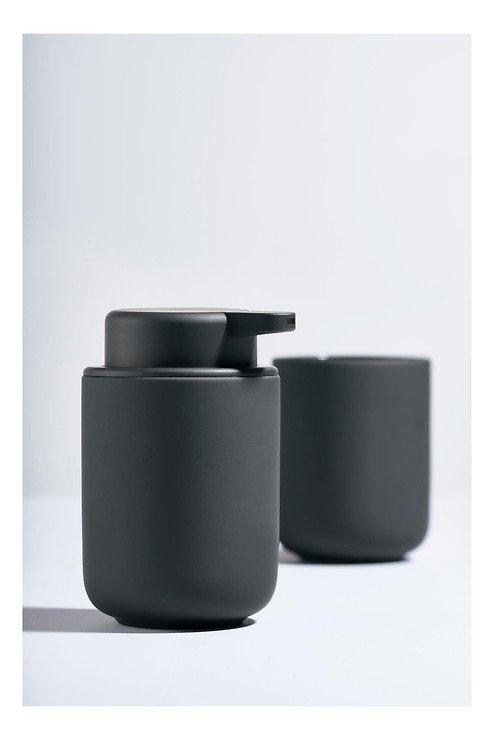 Zone Seifenspender Ume Keramik 0,25 l Soft Touch schwarz matt - Pic 2