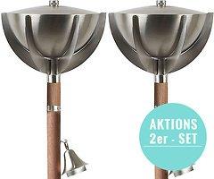Zone Gartenfackel Monte Carlo 2er SET Stahl matt 160 cm | reduziert