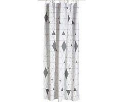 Zone Duschvorhang Harlequin Polyester 2 x 1,8 m grau