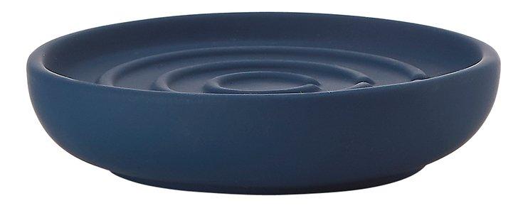 Zone Seifenschale Nova One Keramik Soft Touch blau