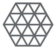 Zone Topfuntersetzer Hexagon Dreiecke 16 x 14 cm Silikon grau