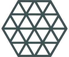 Zone Topfuntersetzer Hexagon Dreiecke 16 x 14 cm Silikon grün