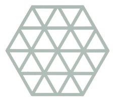 Zone Topfuntersetzer Hexagon Dreiecke 16 x 14 cm Silikon hellgrün