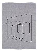 Zone Geschirrtuch Dry Art Squares 70 x 50 cm grau