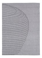 Zone Geschirrtuch Dry Art Circles 70 x 50 cm grau