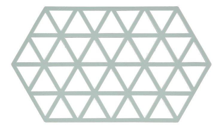 Zone Topfuntersetzer Hexagon Dreiecke 24 x 14 cm Silikon hellgrün