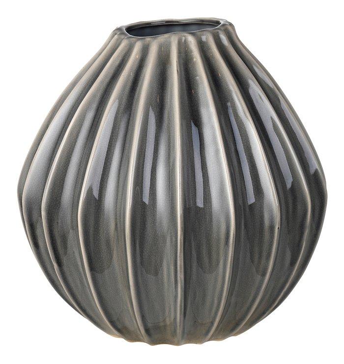 Broste Vase Wide Keramik dunkelgrau 30 cm - Pic 1