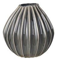 Broste Vase Wide Keramik dunkelgrau 30 cm