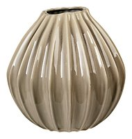 Broste Vase Wide Keramik grau 30 cm