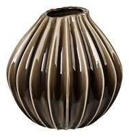 Broste Vase Wide Keramik braun 25 cm