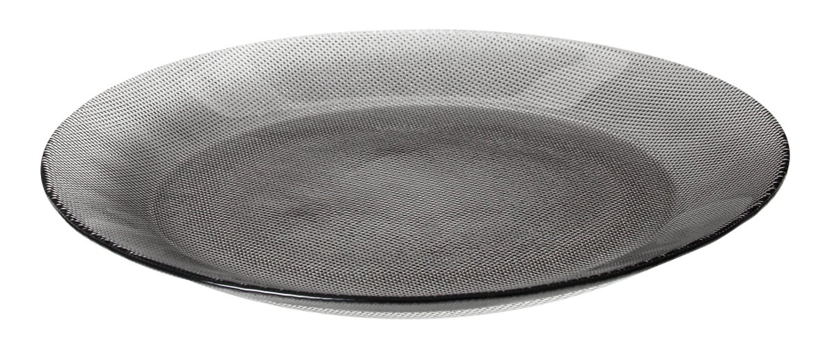 Broste Dessertteller Smoke 22cm Glas klar grau - Pic 1