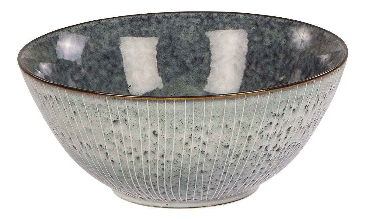 Broste Schüssel Nordic Sea 25 x 11 cm Keramik grau - Pic 1