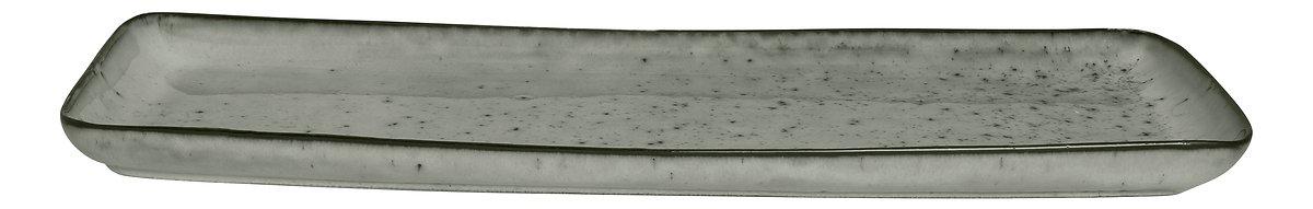 Broste Servierplatte rechteckig Nordic Sea 12,5 x 35 cm Keramik grau - Pic 1