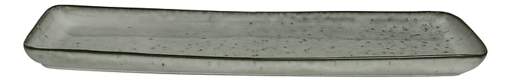 Broste Servierplatte rechteckig Nordic Sea 12,5 x 35 cm Keramik grau