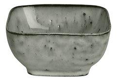 Broste Dipschale eckig Nordic Sea 8 x 4 cm Keramik grau