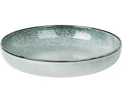 Broste Schüssel flach Nordic Sea 22,5 x 4,8 cm Keramik grau