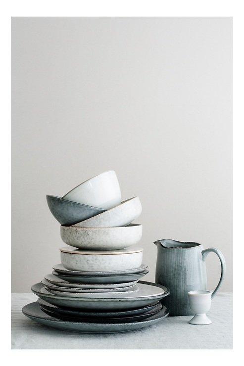 Broste Servierplatte rechteckig Nordic Sand 12,5 x 35 cm Keramik sand - Pic 2