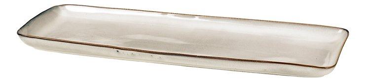 Broste Servierplatte rechteckig Nordic Sand 12,5 x 35 cm Keramik sand