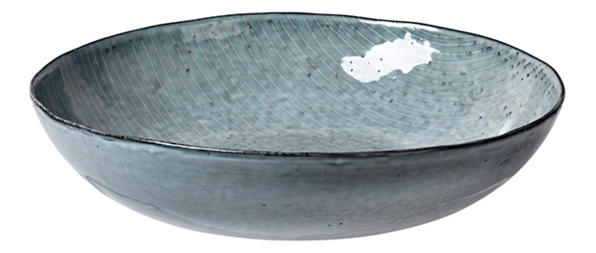 Broste Salatschüssel flach Nordic Sea 34,5 cm Keramik grau - Pic 1