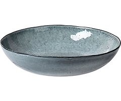 Broste Salatschüssel flach Nordic Sea 34,5 cm Keramik grau