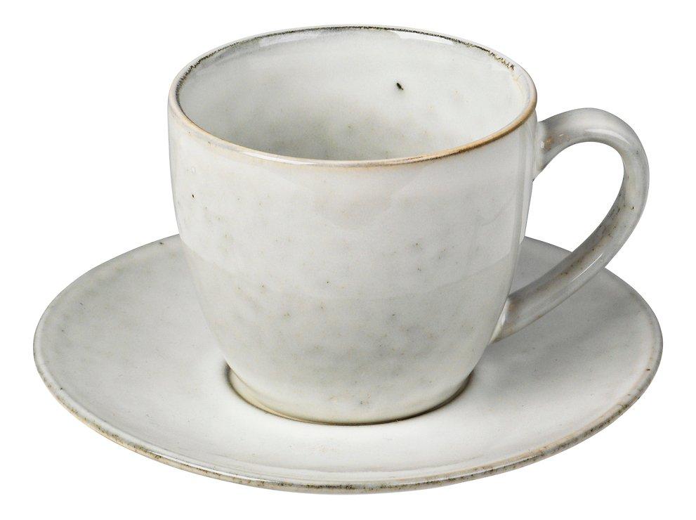 Broste Tasse mit Untertasse Nordic Sand 150 ml Keramik sand - Pic 1