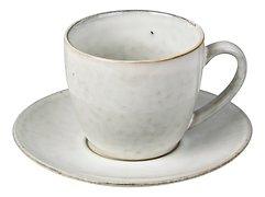 Broste Tasse mit Untertasse Nordic Sand 150 ml Keramik sand