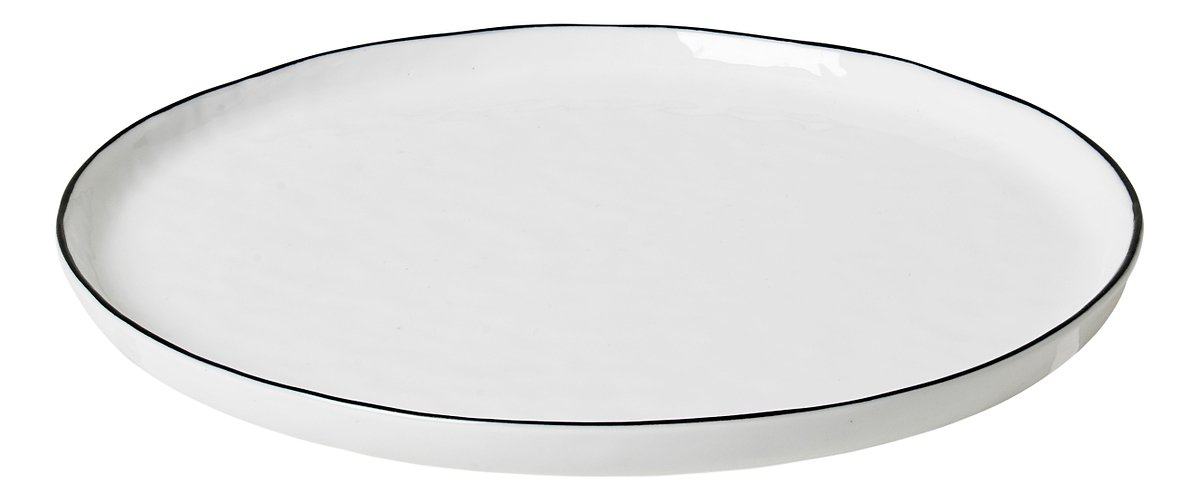 Broste Speiseteller Salt 22 cm Porzellan weiß schwarz - Pic 1