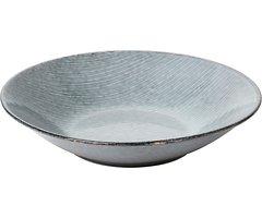 Broste Suppenteller Nordic Sea 22,5 x 5 cm Keramik grau