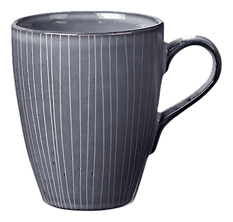 Broste Henkelbecher groß Nordic Sea 400 ml Keramik grau - Pic 1